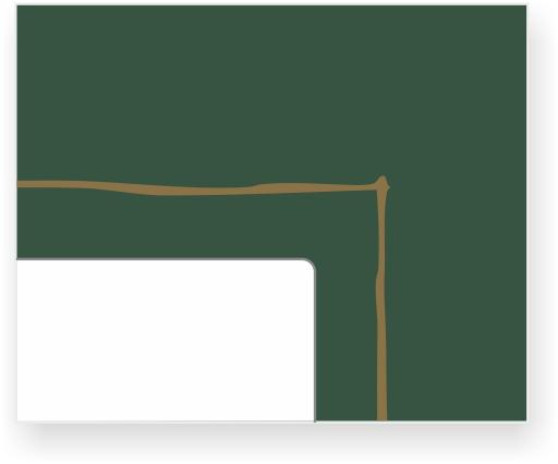ornament nr 1031 kolor złoty na zielonym tle